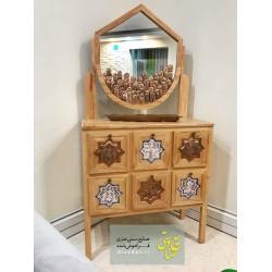 آینه کنسول چوب راش سنتی
