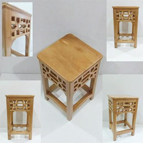 چهارپایه گره چینی چوبی