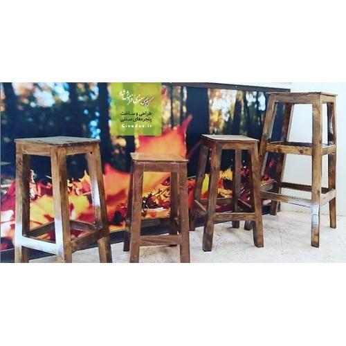 چهارپایه چوبی سنتی
