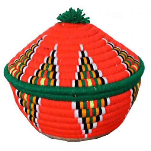 کپوی گرد حصیری نارنجی 635