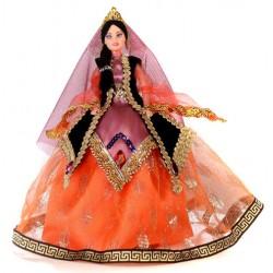 عروسک زن محلی نارنجی