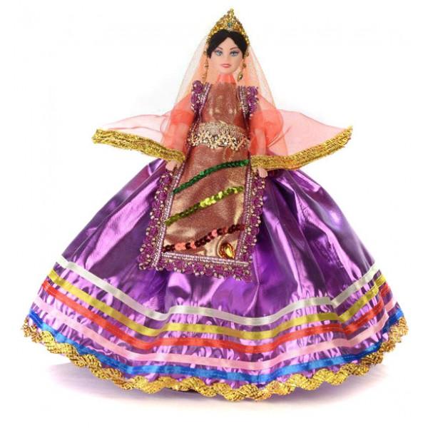 عروسک زن محلی بنفش