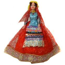 عروسک سفره هفت سین زن قشقایی قرمز