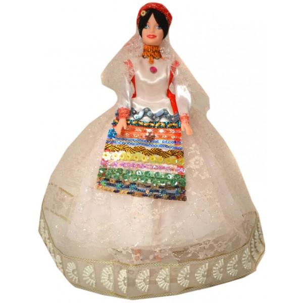 عروسک سفره هفت سین زن قشقایی سفید