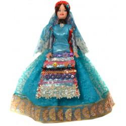 عروسک سفره هفت سین زن شمالی فیروزه ای