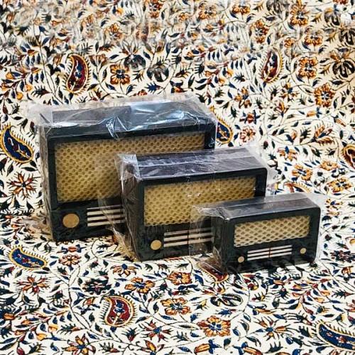 رادیو دکوری قدیمی چوبی