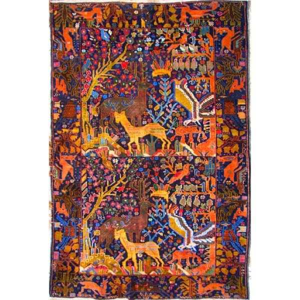 فرش افغانستان نقشه جنگلی
