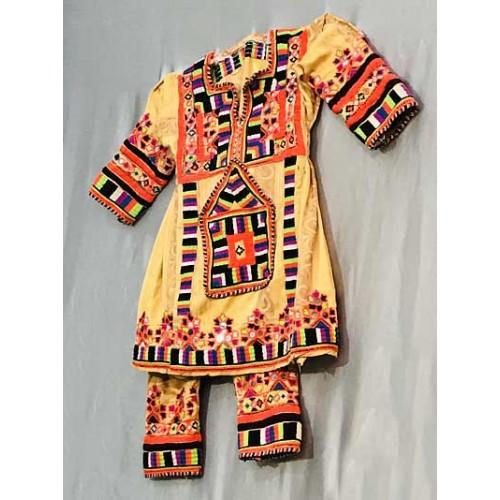 لباس بلوچی بچگانه نارنجی
