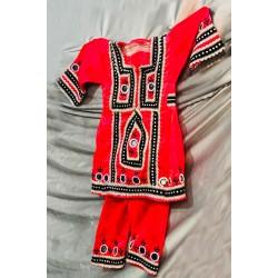 لباس بلوچی بچه گانه قرمز