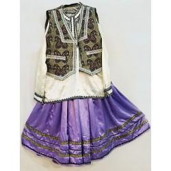 لباس بلوچی دخترانه بنفش