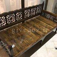 تخت باغی چوبی گره چینی
