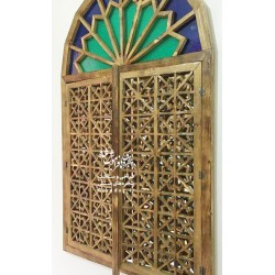 پنجره گره چيني چوبی طرح شاهرخ