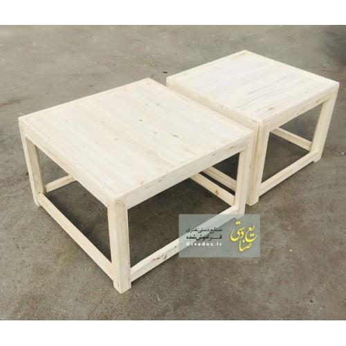 کرسی چوبی سنتی مربعی