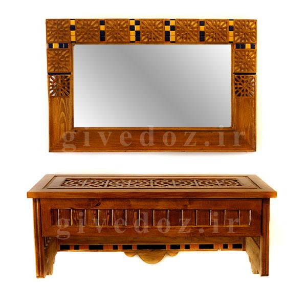 آینه کنسول چوبی سنتی