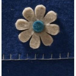 کیف پاسپورتی مربع آبی نمدی 5452