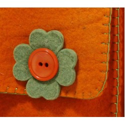کیف نمدی پاسپورتی نارنجی 5489
