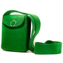 کیف شانه ای زنانه سبز نمدی 5490