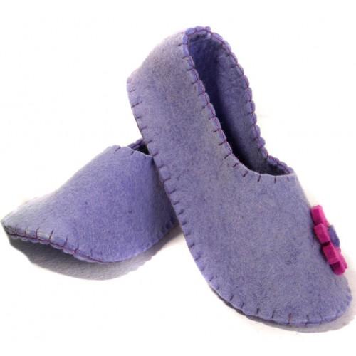 کفش روفرشی دخترانه نمدی بنفش 5505