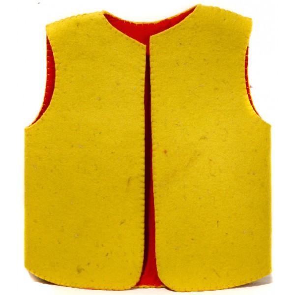 جلیقه بچه گانه نمدی زرد 5521