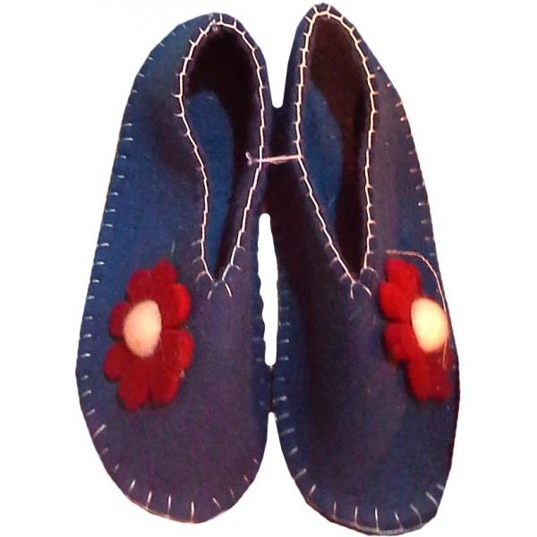 کفش نمدی دخترانه سورمه ای 306