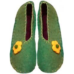 کفش نمدی دخترانه سبز 307