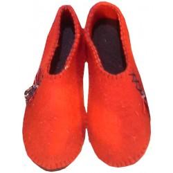 کفش نمدی دخترانه قرمز 308