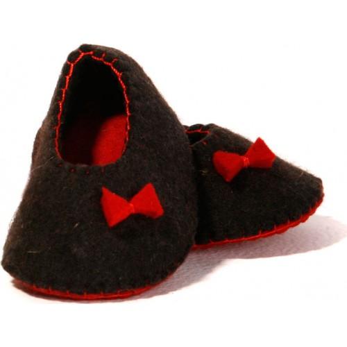 کفش نوزادی نمدی قرمز 5509