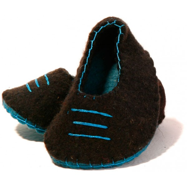 کفش نوزادی نمدی آبی 5509
