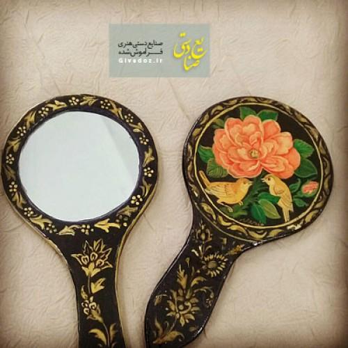 آینه دستی آرایشی گل مرغی