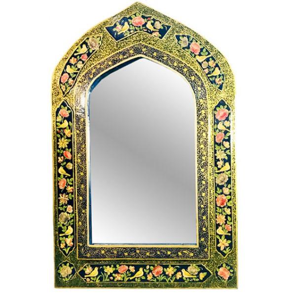 آینه پاپیه ماشه طرح گنبد