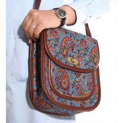 کیف ترمه و چرم روشنک